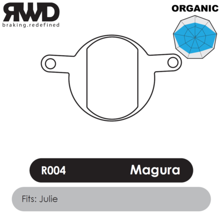 RWD R004 Magura Julie Organic Disc Brake Pads - Superior Friction