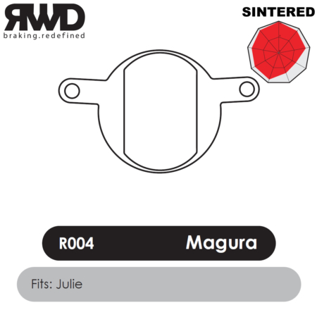 RWD R004 Magura Julie Sintered Disc Brake Pads - Superior Friction