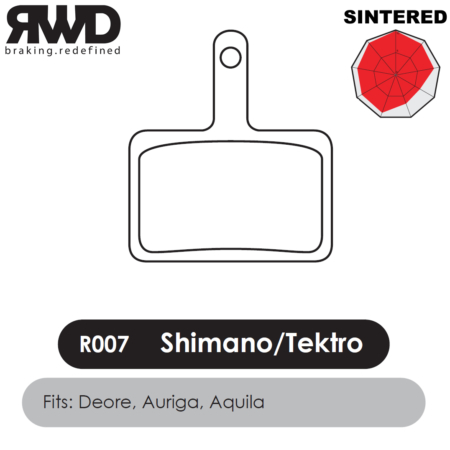 RWD R007 Shimano Deore Sintered Disc Brake Pads - Superior Friction