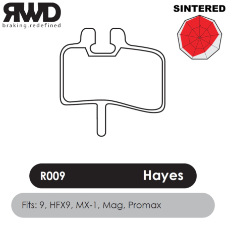RWD R009 Hayes Sintered Disc Brake Pads - Superior Friction