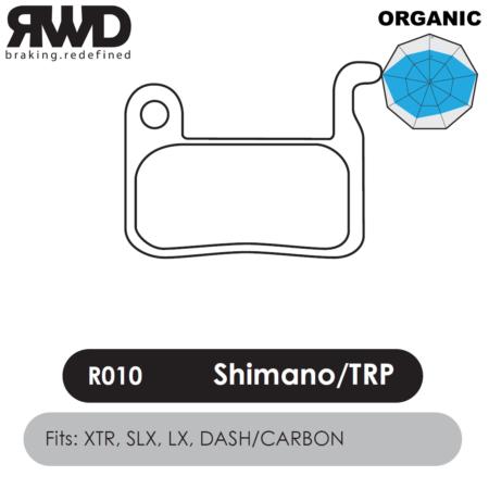 RWD R010 Shimano XTR Organic Disc Brake Pads - Superior Friction