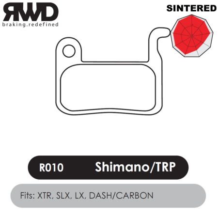 RWD R010 Shimano XTR Sintered Disc Brake Pads - Superior Friction