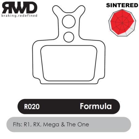 RWD R020 Formula R1-RX1-Mega Sintered Disc Brake Pads - Superior Friction