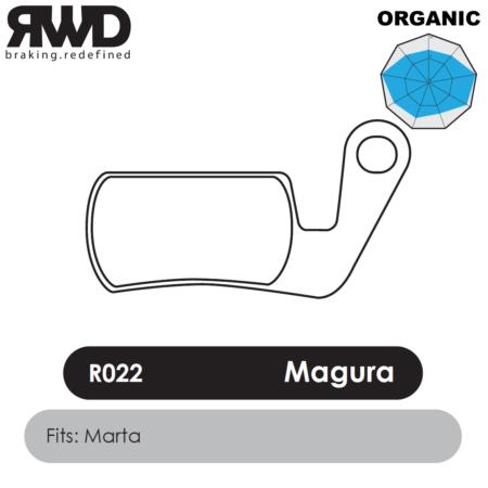 RWD R022 Magura Marta Organic Disc Brake Pads - Superior Friction