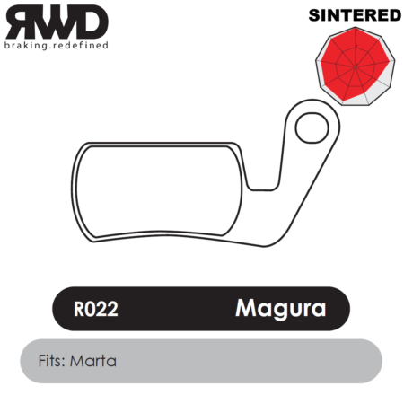 RWD R022 Magura Marta Sintered Disc Brake Pads - Superior Friction