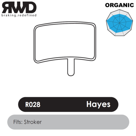 RWD R028 Hayes Stroker Trail Organic Disc Brake Pads - Superior Friction