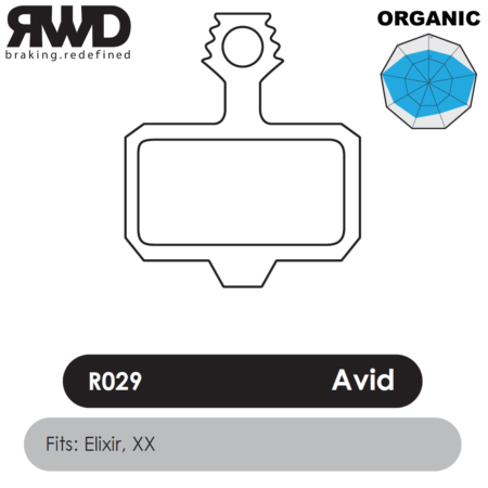 RWD R029 Avid Elixir Organic Disc Brake Pads - Superior Friction
