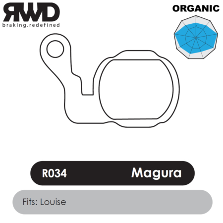 RWD R034 Magura Louise Organic Disc Brake Pads - Superior Friction