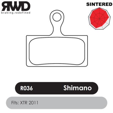 RWD R036 Shimano XTR Sintered Disc Brake Pads - Superior Friction